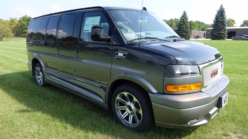 GM Black with Greystone Fade Paint (Low Top) Conversion Van - Explorer South