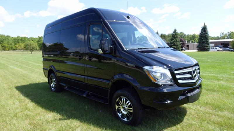 Mercedes-Benz Sprinter Graphite Metallic with Black Pearl Fade (Low Roof) Shown with 9 Passenger Seating - Explorer South Van Conversion